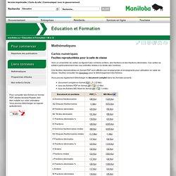 Mathématiques - Cartes numériques - Feuilles reproductibles pour la salle de classe