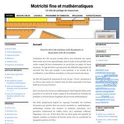 Motricité fine et mathématiques
