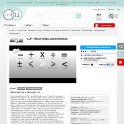 Mathématiques savonneuses - Ecole Normale Supérieure de Lyon