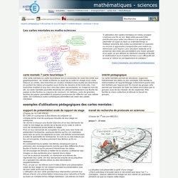 mathématiques - sciences - Les cartes mentales en maths-sciences
