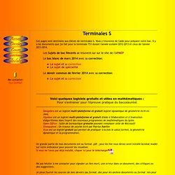 Mathématiques en Terminales Scientifiques