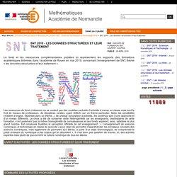 Mathématiques Académie de Normandie - SNT 2019 - Les données structurées et leur traitement