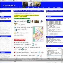 Mathématiques ce1 : 200 fiches d'exercices à télécharger, imprimer, modifier, faire en ligne
