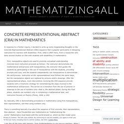 Concrete Representational Abstract (CRA) in mathematics