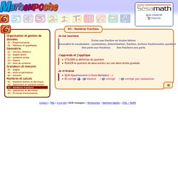 Nombres fractions