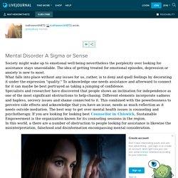 Mental Disorder A Sigma or Sense: mathewsmith872 — LiveJournal