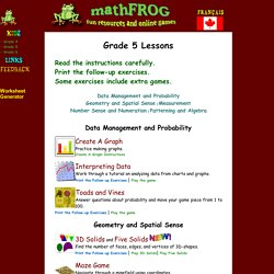 mathFROG - Fun Resources & Online Games
