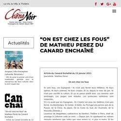 """""""On est chez les fous"""" de Mathieu Perez du Canard Enchaîné au Théâtre du Chêne Noir"""