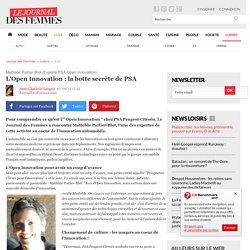 L'Open Innovation : la botte secrète de PSA - Journal des Femmes Voiture