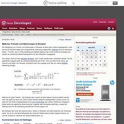online - MathJax: Formeln und Gleichungen im Browser