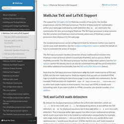 MathJax TeX and LaTeX Support — MathJax 2.5 documentation
