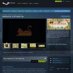 Mathoria: It All Adds Up on Steam