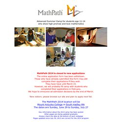 Math summer camp for gifted middle school students | Mathpath