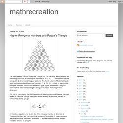 mathrecreation: Higher Polygonal Numbers and Pascal's Triangle