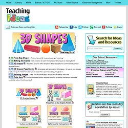 3D Shape Teaching Ideas