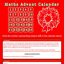 Maths Advent Calendar