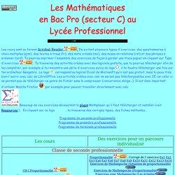 maths Bac Pro