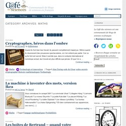 Maths - Café des sciences