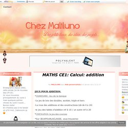 MATHS CE1: Calcul: addition
