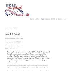 Maths Craft Festival — Maths Craft