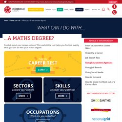 What can I do with a maths degree?