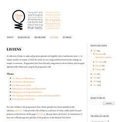 Maths Ed Ideas: LISTENS