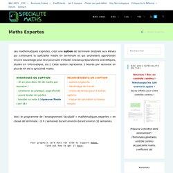 Maths Expertes – Spécialité-Maths