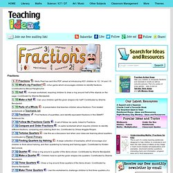 Maths - Fractions / Decimals / Percentages Teaching Ideas