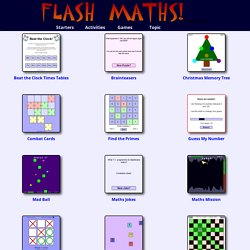 Maths games - FlashMaths.co.uk