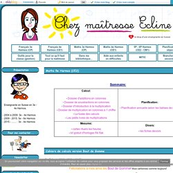 Maths 5e Harmos (CE2) - Chez maîtresse Ecline