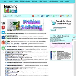 Maths - Problem Solving Teaching Ideas