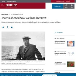 Maths shows how we lose interest