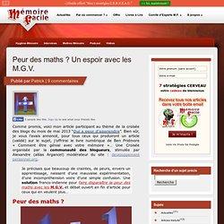 peur des maths, solution franco-indienne avec les M.G.V.