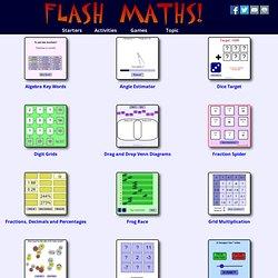 Maths starters - FlashMaths.co.uk