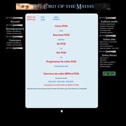 Maths sup