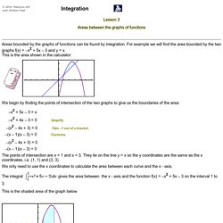 MathScene - Integration - Lesson 3