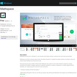 Mathspace app for Windows in the Windows Store