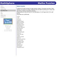 MathSphere Maths Puzzles