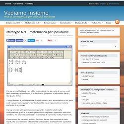 Mathtype 6.9 - matematica per ipovisione