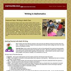 Writing in Mathematics