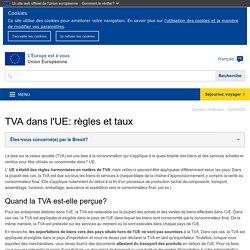 Règles et taux en matière de TVA: taux normaux, spéciaux et réduits - L'Europe est à vous