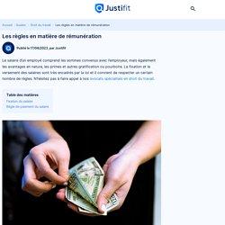 Les règles en matière de rémunération - Justifit