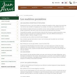 Les matières premières - JEAN HERVE SCS