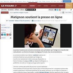 Matignon soutient la presse en ligne