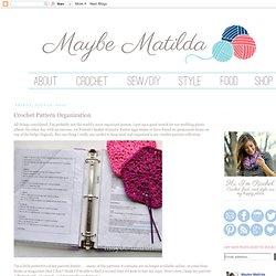 Crochet Pattern Organization