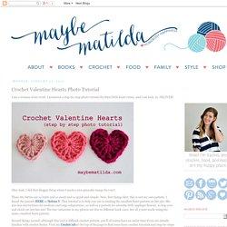 Crochet Valentine Hearts Photo Tutorial
