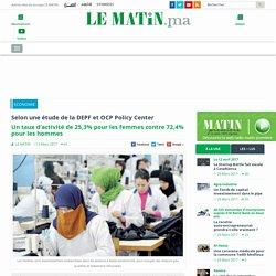 Le Matin - Un taux d'activité de 25,3% pour les femmes contre 72,4% pour les hommes