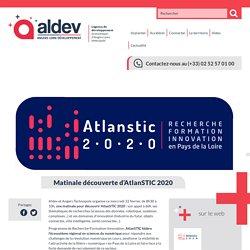 Matinale découverte d'AtlanSTIC 2020 - ALDEV