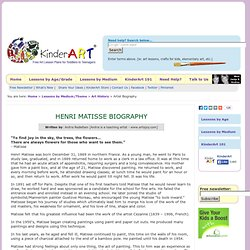 Henry Matisse Biography - Art History