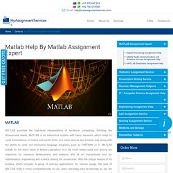 Matlab Assignment Help in Australia